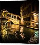 Night On The Grand Canal Canvas Print
