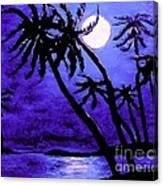 Night On The Islands Painterly Brushstrokes Canvas Print