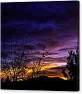 Night Paints The Sky Canvas Print