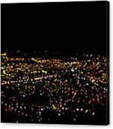 Night Panorama Of Cuenca Ecuador Canvas Print