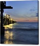 Night Pier Canvas Print