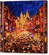 Night Prague Canvas Print