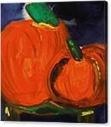 Night Pumpkins Canvas Print