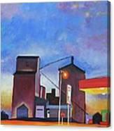 Night Silo Canvas Print