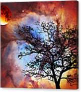 Night Sky Landscape Art By Sharon Cummings Canvas Print