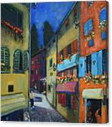 Night Street In Pula Canvas Print