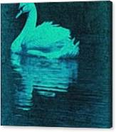 Night Swan L Canvas Print