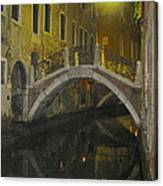 Night Time In Venice Canvas Print