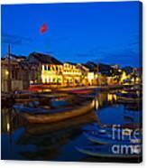 Night View Of Hoi An City Vietnam Canvas Print