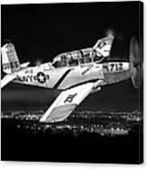 Night Vision Beechcraft T-34 Mentor Military Training Airplane Canvas Print