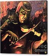 Nightclub Violinist - 1940s Canvas Print