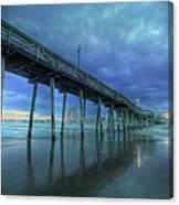 Nightfall At The Pier Canvas Print