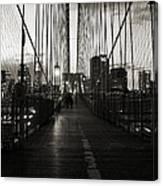 Nightfall On The Brooklyn Bridge Canvas Print