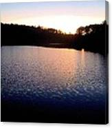 Nightfall On The Lake Canvas Print