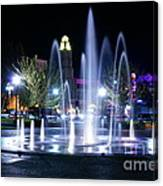 Nighttime At Chico City Plaza Canvas Print