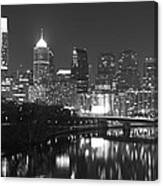 Nighttime In Philadelphia Canvas Print