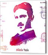 Nikola Tesla Patent Art Apparatus For Aerial Transportation  Canvas Print