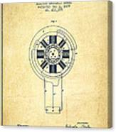 Nikola Tesla Patent Drawing From 1889 - Vintage Canvas Print