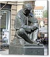 Nikola Tesla Sculpture In Zagreb Canvas Print