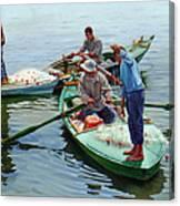 Nile River Fishermen  Canvas Print