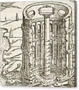 Nilometer In Egypt, 17th-century Artwork Canvas Print