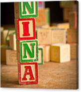 Nina - Alphabet Blocks Canvas Print