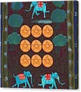Nine Of Pentacles Canvas Print