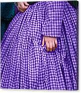Ninetenth Century Woman In Purple Canvas Print