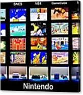 Nintendo History Canvas Print