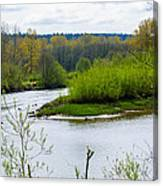 Nisqually River From The Nisqually National Wildlife Refuge Canvas Print