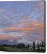 Nisqually Valley Sunset Canvas Print