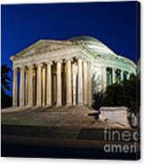 Nite At The Jefferson Memorial Canvas Print