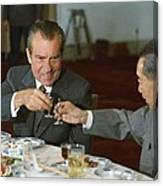 Nixon In China. President Richard Nixon Canvas Print
