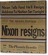 Nixon Resigns Canvas Print