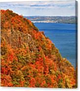 N.j. Palisades Awesome Autumn  Canvas Print