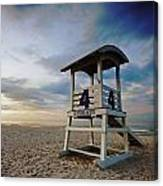 No 4 Lifeguard Station Canvas Print
