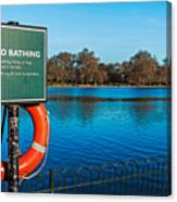 No Bathing Sign Canvas Print