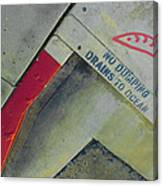 No Dumping - Drains To Ocean No 1 Canvas Print
