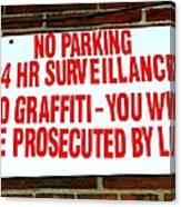 No Graffiti Canvas Print