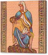 No Greater Love - Jesus And Mary  Canvas Print