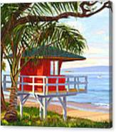 No Guard On Duty - Kamaole Beach Canvas Print