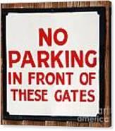 No Parking Vintage Sign Canvas Print