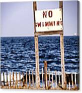 No Swimming Canvas Print