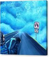 No U Turn In Blue Canvas Print