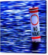 No Wake Canvas Print