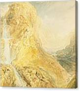 No.0571 Mossdale Fall, Yorkshire Canvas Print