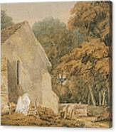 No.0735 A Country Churchyard, C.1797-98 Canvas Print