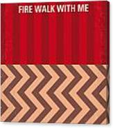 No169 My Fire Walk With Me Minimal Movie Poster Canvas Print