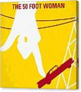No276 My Attack Of The 50 Foot Woman Minimal Movie Poster Canvas Print