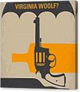 No426 My Whos Afraid Of Virginia Woolf Minimal Movie Poster Canvas Print